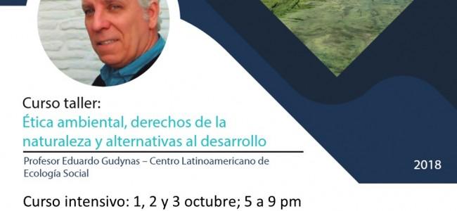 Etica ambiental, derechos de la Naturaleza y alternativas: curso en Colombia